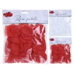 Dekoratiivsed roosi kroonlehed, valge/punane, 100 tk