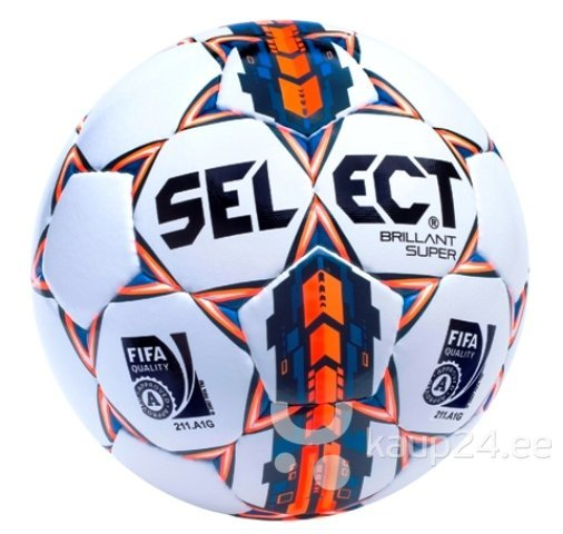 Футбольный мяч SELECT Brillant Super (FIFA approved) 2015 a. цена и информация | Jalgpall | kaup24.ee