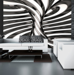Fototapeet - Black and white swirl