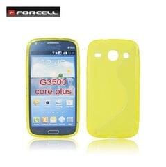 Forcell Back Case S-Line Samsung G3502 Core Plus/G3502 Trend 3 силиконово/пластиковый чехол Желтый