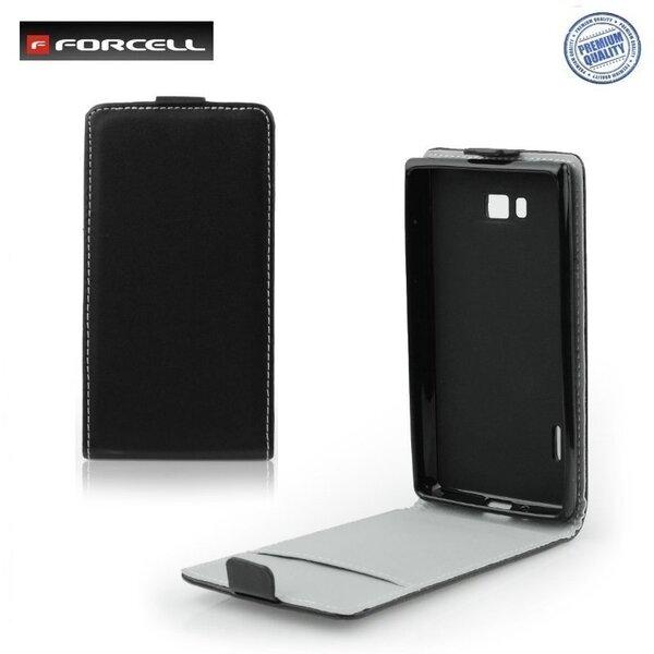 Forcell Flexi Slim Flip чехол для телефона Samsung S7270 Galaxy Ace 3, Чёрный цена и информация | Mobiili ümbrised, kaaned | kaup24.ee
