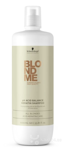 Šampoon Schwarzkopf Professional Blond Me pH Acid Balance Keratin 1000 ml цена и информация | Šampoonid | kaup24.ee