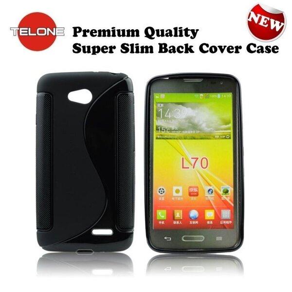 Telone Back Case S-Case силиконовый чехол LG L65 D280 D320 L70 Черный цена и информация | Mobiili ümbrised, kaaned | kaup24.ee