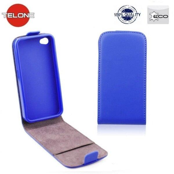 Telone Flexi Slim Flip Sony D2203 D2212 Xperia E3 вертикальная книжка-чехол в силиконовом корпусе Синий цена и информация | Mobiili ümbrised, kaaned | kaup24.ee