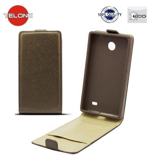 Telone Shine Pocket Slim Flip Case LG F70 D315 вертикальный Чехол-книжка Коричневый цена и информация | Mobiili ümbrised, kaaned | kaup24.ee
