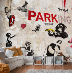 Fototapeet - [Banksy] Graffiti Collage