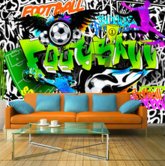 Fototapeet - Football Graffiti