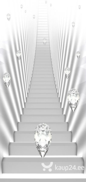 Fototaustapilt uksele - Photo wallpaper - White stairs and jewels I tagasiside