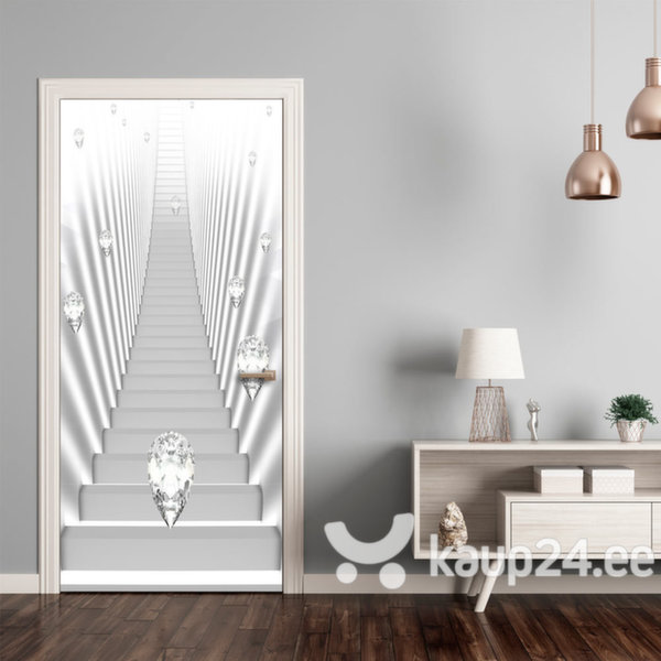 Fototaustapilt uksele - Photo wallpaper - White stairs and jewels I