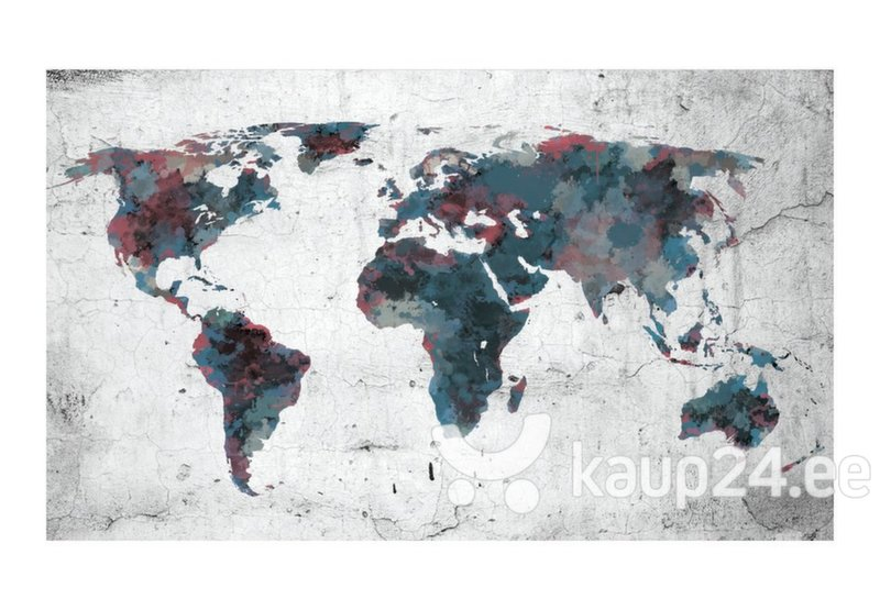 Fototapeet - World map on the wall tagasiside