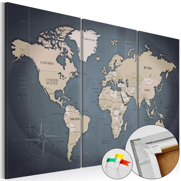 Pilt korgil - Anthracitic World [Cork Map]
