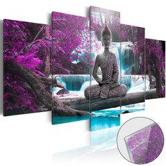 Akrüülprintimine - Waterfall and Buddha [Glass] hind ja info | Seinapildid | kaup24.ee