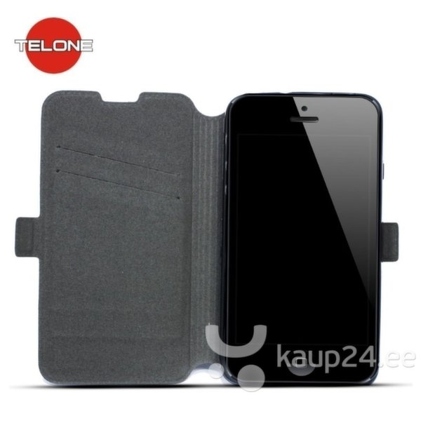 Kaitseümbris Telone Super Slim Shine Book Samsung Galaxy A5 A500, Must цена и информация | Mobiili ümbrised, kaaned | kaup24.ee