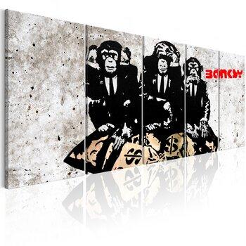 Maal - Banksy: Three Monkeys