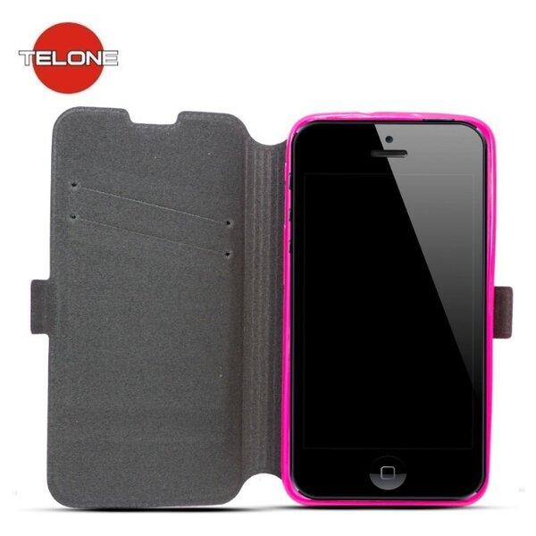 Kaitseümbris Telone Super Slim Shine Book / Nokia Lumia 530, roosa цена и информация | Mobiili ümbrised, kaaned | kaup24.ee