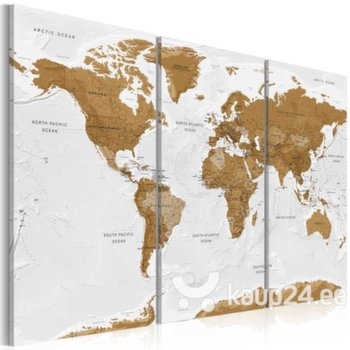 Maal - World Map: White Poetry