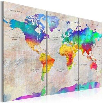 Maal - World Map: Rainbow Gradient