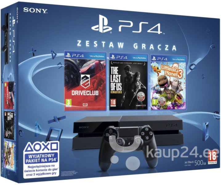Mängukonsool SONY PlayStation 4 (PS4) 500 GB
