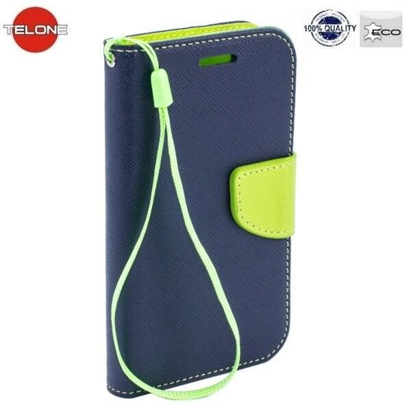 Telone Fancy Diary Book Case LG F60 D390 Чехол-книжка со стендом Синий/Светло Зеленый