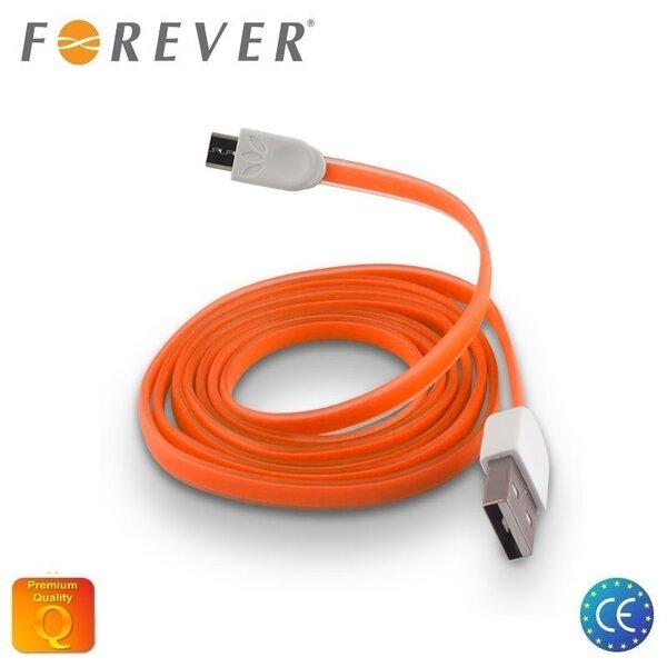 Forever Плоский силиконовый Микро USB Кабель данных и заряда Оранжевый (EU Blister) цена и информация | Kaablid | kaup24.ee