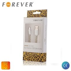 Forever Flat Silicone Micro USB 1m Leopard