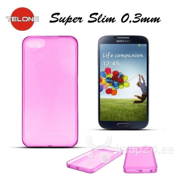 Telone Ultra Slim 0.3mm Back Case Samsung i9500 Galaxy S4 супер тонкий чехол Розовый