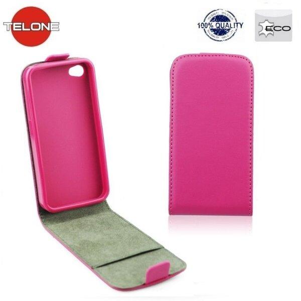 Kaitseümbris Telone Flexi Slim Flip LG L90 D405, Roosa hind ja info | Mobiili ümbrised, kaaned | kaup24.ee