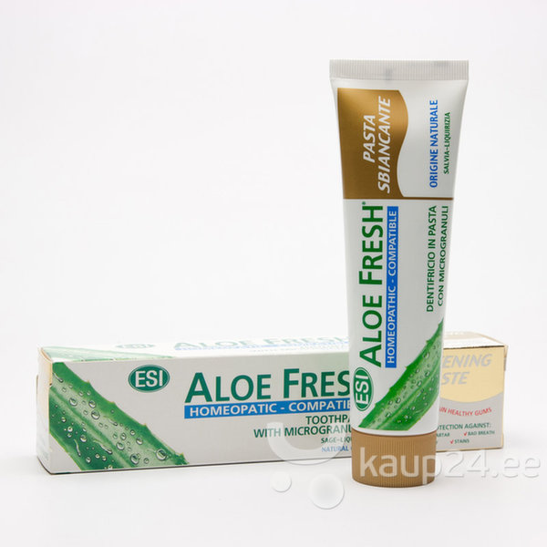Valgendav hambapasta mikrograanulitega ESI Aloe 100ml hind ja info | Suuhügieen | kaup24.ee
