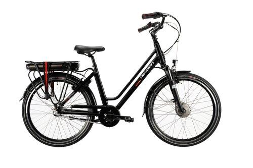 """Женский электрический велосипед Devron 26122-460 BYS-728 26"""", черный"""
