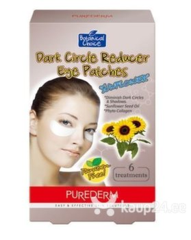 Silmaümbrusmask tumedate ringide vähendamiseks Purederm Dark Circle Reducer Eye Patches Sun Flower Seed Oil 6tk