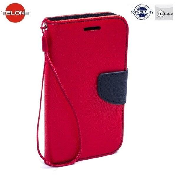 Telone Fancy Diary Book Case Nokia 730/735 Lumia Чехол-книжка со стендом Красный/Синий цена и информация | Mobiili ümbrised, kaaned | kaup24.ee
