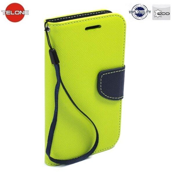 Telone Fancy Diary Book Case Nokia 730/735 Lumia Чехол-книжка со стендом Светло Зеленый/Синий цена и информация | Mobiili ümbrised, kaaned | kaup24.ee