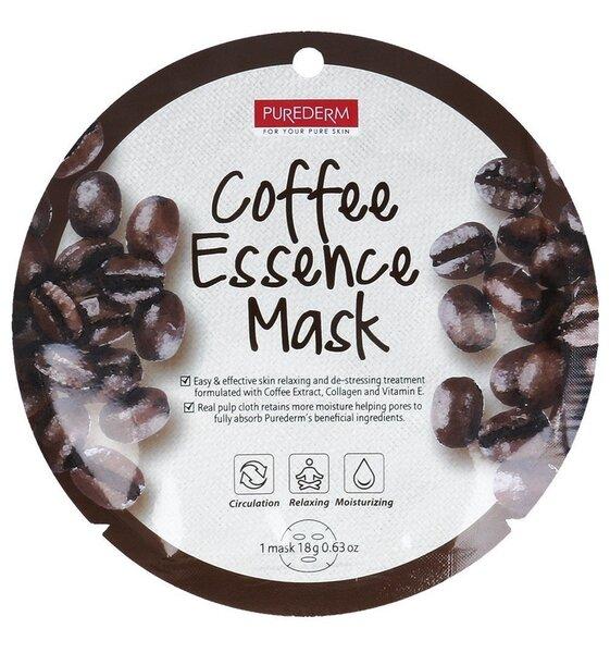 Näomask kohviekstraktiga Purederm Coffee Essence 18 g