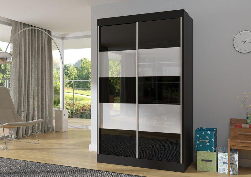 Riidekapp Alto, must/valge hind ja info | Kapid | kaup24.ee