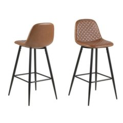 Комплект из 2-х барных стульев Wilma, коричневый/черный