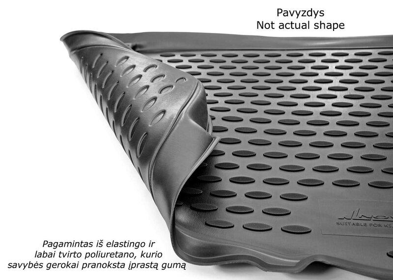 Kummist pagasiruumi matt HYUNDAI ix55 2007-> (used 3 rows) black /N15024