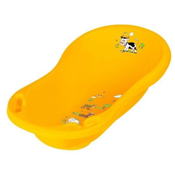 Ванна PRIMA BABY 100 см Funny farm 8718-456, желтая