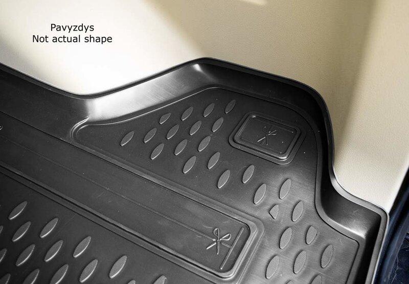 Kummist pagasiruumi matt HONDA Civic hb 2012-> (5 doors, with subwoofer) black /N16008