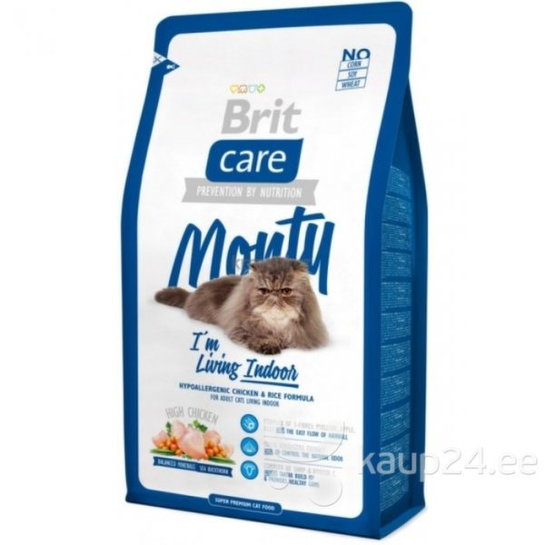 BRIT CARE Cat Indoor Monty 7 kg цена и информация | Kuivtoit kassidele | kaup24.ee