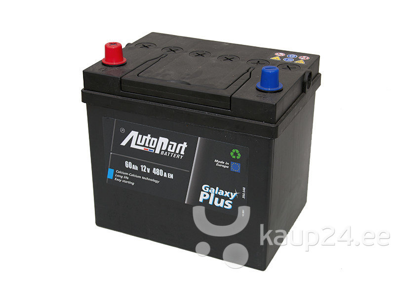 Aku 60AH 480A Jaapan Autopart цена и информация | Akud | kaup24.ee