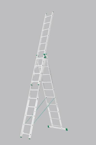 Kahepoolne redel 3x7 astet цена и информация | Redelid | kaup24.ee