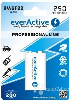 "everActive 9V ""Ready to Use"" patarei цена и информация 