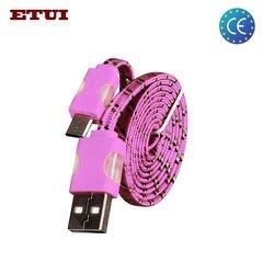 Kaabel Etui Flat USB - Micro USB, roosa hind ja info | Mobiiltelefonide kaablid | kaup24.ee
