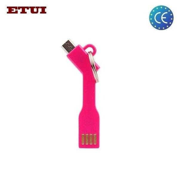 Etui USB Кабель - брелок на Micro USB соединение Универсальный Розовый цена и информация | Kaablid | kaup24.ee
