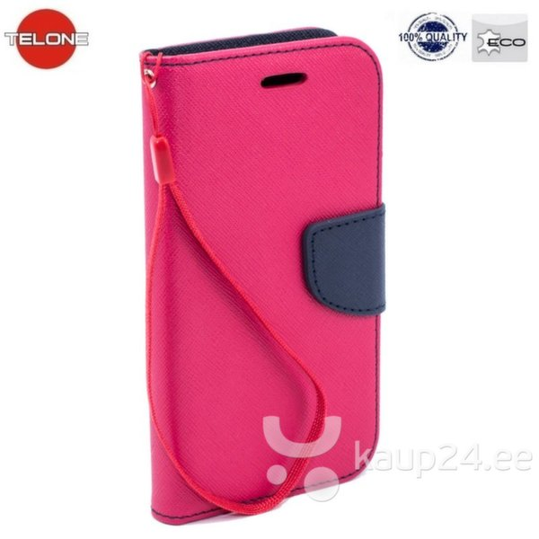 Telone Fancy Diary Book Case Microsoft 640 Lumia Чехол-книжка со стендом Розовый/Синий цена и информация | Mobiili ümbrised, kaaned | kaup24.ee