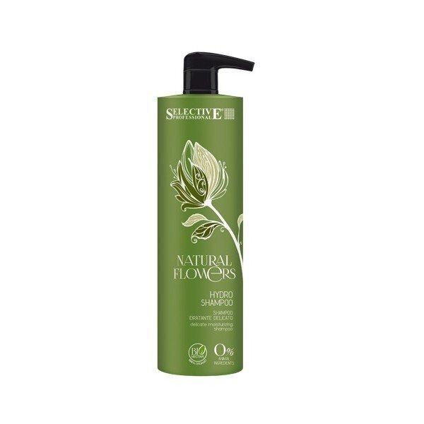 Õrn niisutav šampoon Selective Professional Natural Flowers 1000 ml