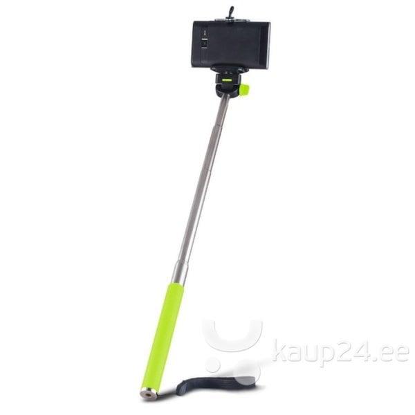 Forever MP-300 Bluetooth Selfie Stick 95cm - Универсального крепления штатив без Пульта Зеленый цена и информация | Selfie sticks | kaup24.ee
