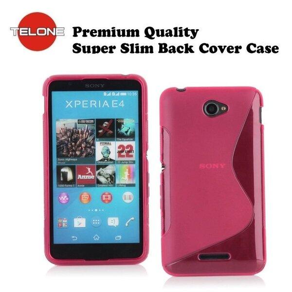 Telone Back Case S-Case силиконовый чехол Sony Xperia E4 Розовый цена и информация | Mobiili ümbrised, kaaned | kaup24.ee