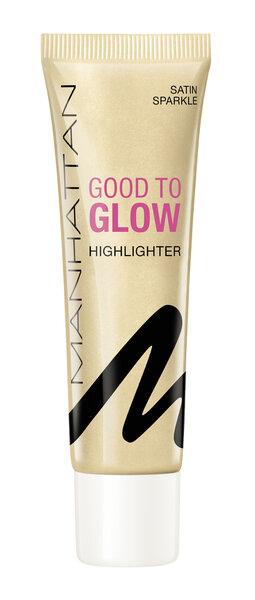 Светоотражающая основа под макияж Manhattan Good To Glow, 25 мл. цена и информация | Näole | kaup24.ee