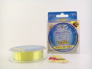 Cralusso леска Fluo-yellow Prestige 0,25 150 м